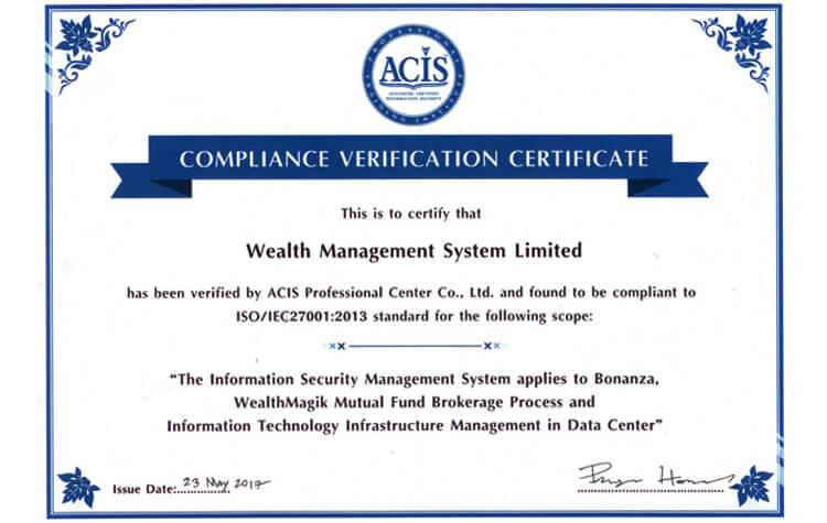 Compliance Verification Certificate